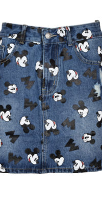 Gonna denim Topolino