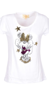 T-shirt Minnie reversibile fucsia / blu