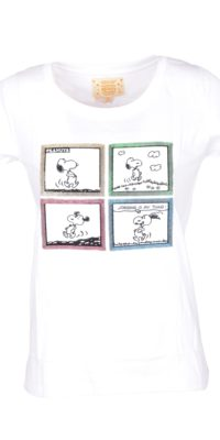 T-shirt Snoopy con paillettes